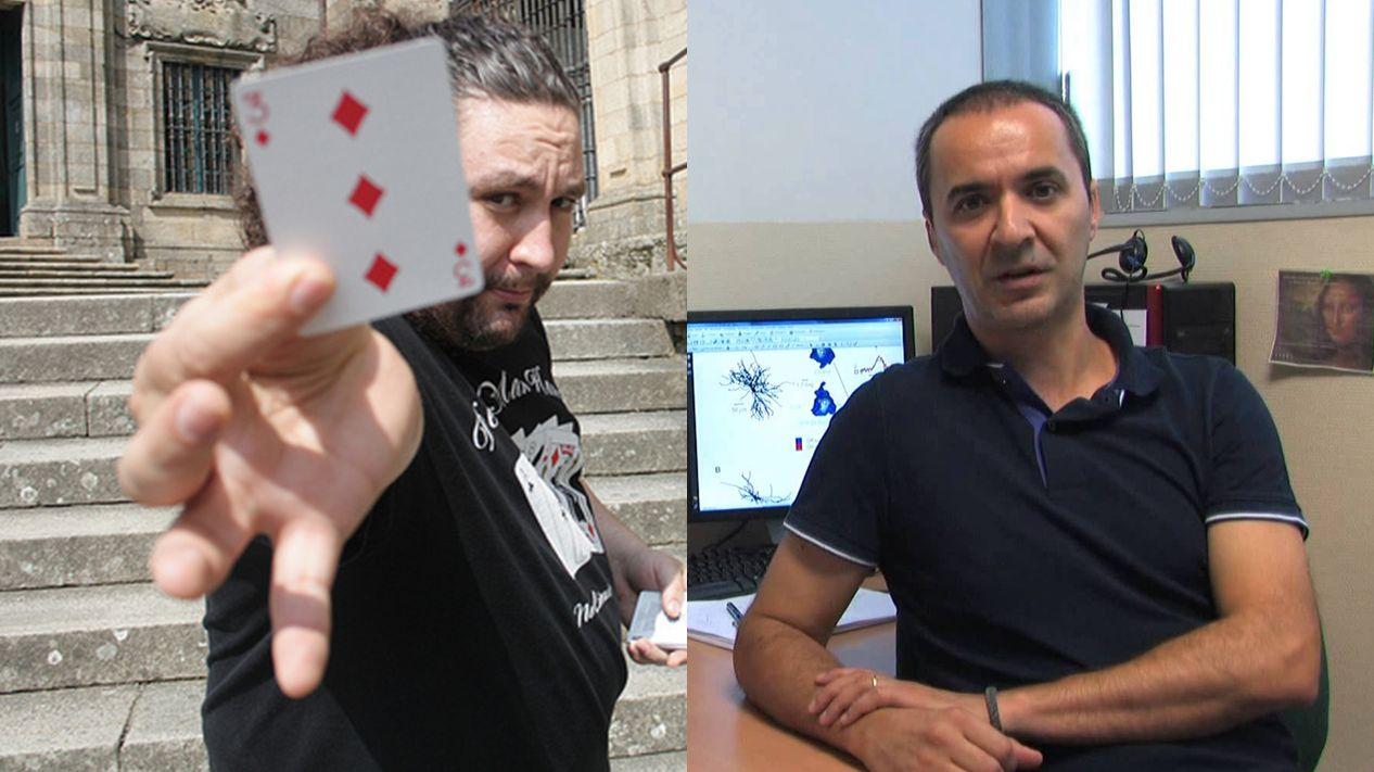Miguel Ángel Gea (Mago) y Luis Martínez Otero (Neurocientífico CSIC)