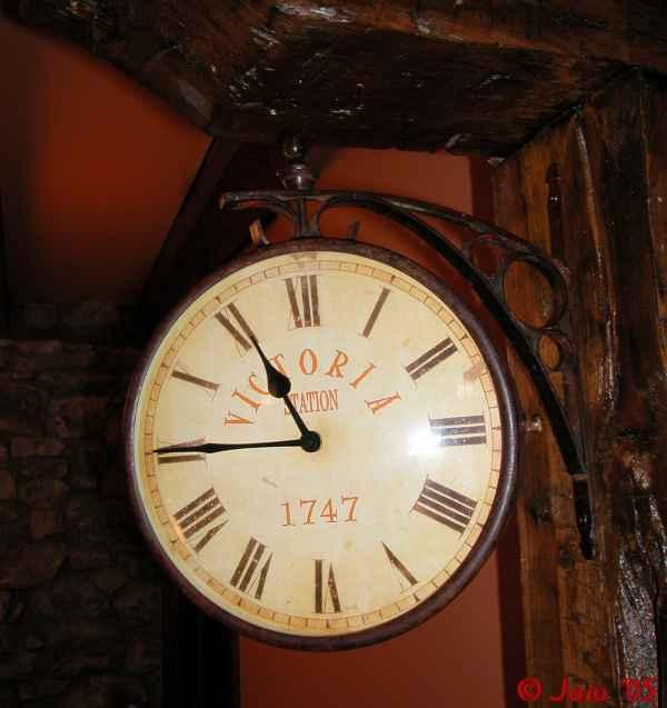 Este reloj se halla en Olabeaga Jauregia